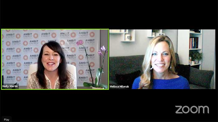 Dr. Melissa Milanak and Holly Martin on a zoom call